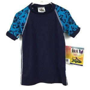 NWT Radicool Skinz Rash Guard Swim Shirt Boys 2T